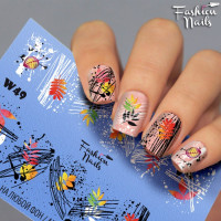 Слайдер-дизайн Fashion Nails, белый W49