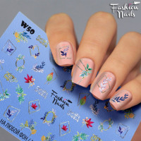 Слайдер-дизайн Fashion Nails, белый W50