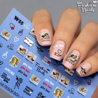 Слайдер-дизайн Fashion Nails, белый W55