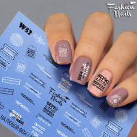 Слайдер-дизайн Fashion Nails, белый W52