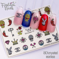 Слайдер-дизайн Fashion Nails, 3D Crystal (13)