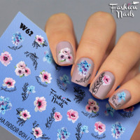 Слайдер-дизайн Fashion Nails, белый W62