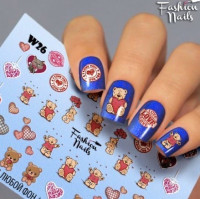 Слайдер-дизайн Fashion Nails, белый W26