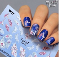 Слайдер-дизайн Fashion Nails, белый W27