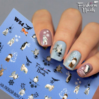 Слайдер-дизайн Fashion Nails, белый W54