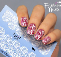 Слайдер-дизайн Fashion Nails, белый W2