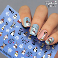 Слайдер-дизайн Fashion Nails, белый W53