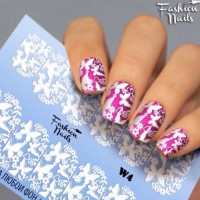 Слайдер-дизайн Fashion Nails, белый W4