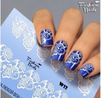 Слайдер-дизайн Fashion Nails, белый W13