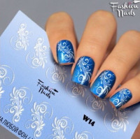 Слайдер-дизайн Fashion Nails, белый W14