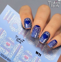 Слайдер-дизайн Fashion Nails, белый W21