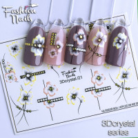 Слайдер-дизайн Fashion Nails, 3D Crystal (21)