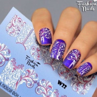 Слайдер-дизайн Fashion Nails, белый W22