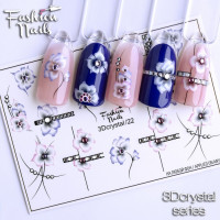 Слайдер-дизайн Fashion Nails, 3D Crystal (22)