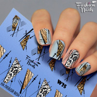 Слайдер-дизайн Fashion Nails, белый W35
