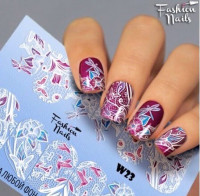 Слайдер-дизайн Fashion Nails, белый W23