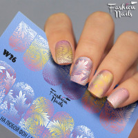 Слайдер-дизайн Fashion Nails, белый W36