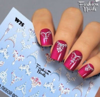 Слайдер-дизайн Fashion Nails, белый W25