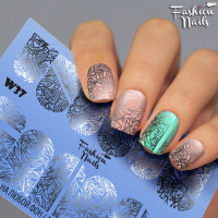 Слайдер-дизайн Fashion Nails, белый W37