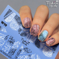 Слайдер-дизайн Fashion Nails, белый W38