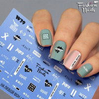 Слайдер-дизайн Fashion Nails, белый W39