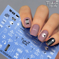 Слайдер-дизайн Fashion Nails, белый W40