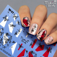 Слайдер-дизайн Fashion Nails, белый W41