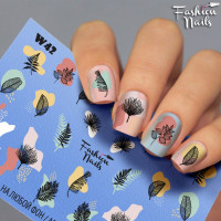 Слайдер-дизайн Fashion Nails, белый W42