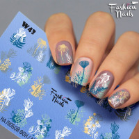 Слайдер-дизайн Fashion Nails, белый W43