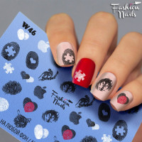 Слайдер-дизайн Fashion Nails, белый W46