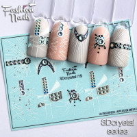 Слайдер-дизайн Fashion Nails, 3D Crystal (19)
