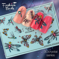 Слайдер-дизайн Fashion Nails, 3D Crystal (08)