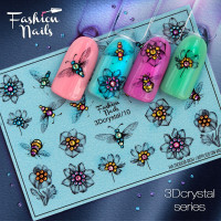 Слайдер-дизайн Fashion Nails, 3D Crystal (10)