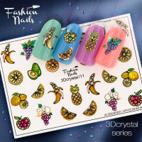Слайдер-дизайн Fashion Nails, 3D Crystal (11)