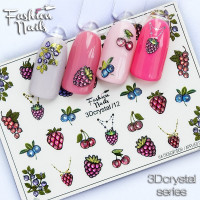 Слайдер-дизайн Fashion Nails, 3D Crystal (12)